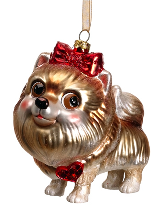 pomeranian ornaments blown glass dog christmas ornaments at designer silk trees 6661